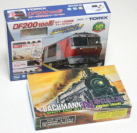 Nゲージ鉄道模型ファーストセットと、ドックサイダー蒸気機関車セット