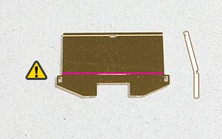 炭庫背板の曲げ位置