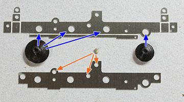 フレームの軸穴の確認