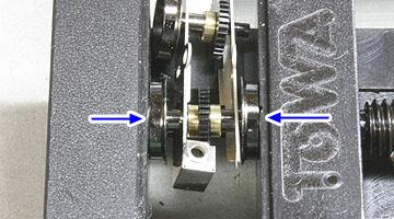 動輪の圧入
