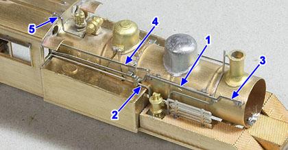 非公式側の配管