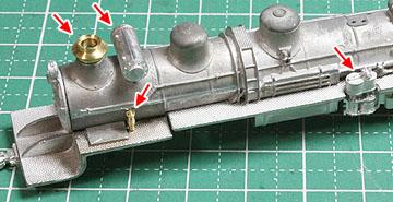 ボイラー部品の接着(公式側)