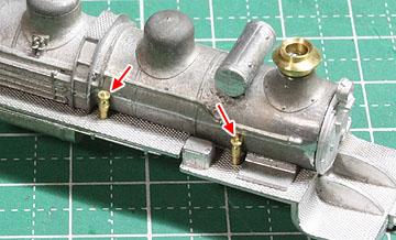 ボイラー部品の接着(非公式側)