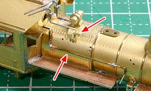 発電機と給水ポンプ吸気管