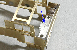 後部床板の固定